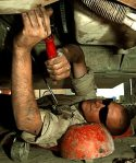 An Army Mechanic in Action