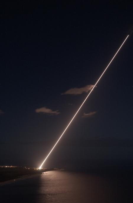 A night launch at WSMR